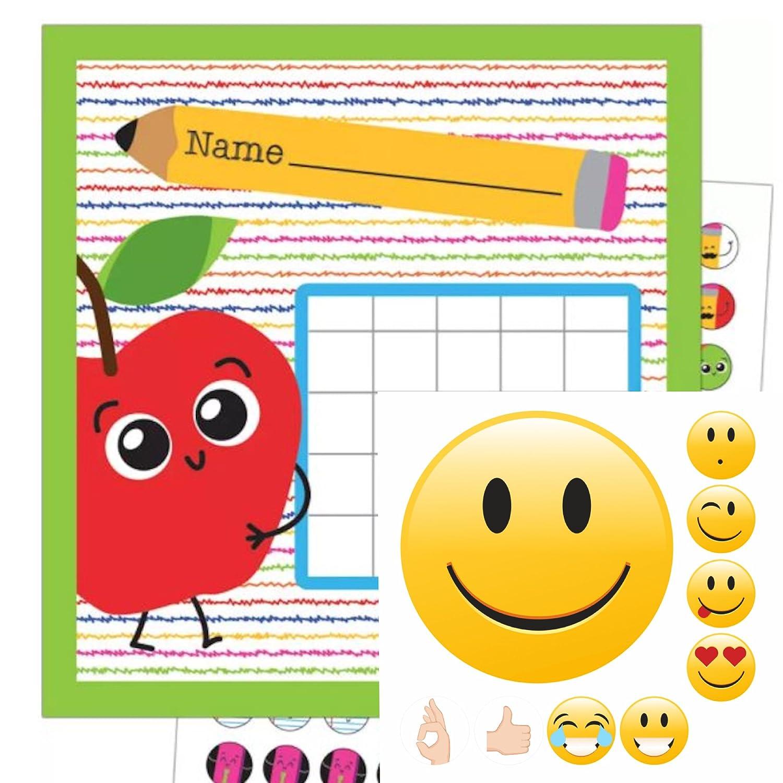 By Diana Belohnungssystem für Kinder Thema Apfel + Smileys Gut Gemacht mit ca. 150 Teilen - Motivation Lernziele mit Spass ✔️