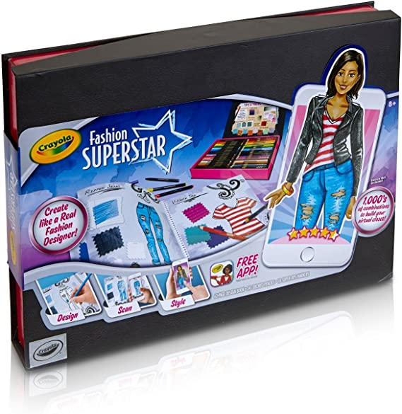 Amazon Com Crayola Fashion Superstar Coloring Book Toy For Kids Gift Ages 8 9 10 11 12 95 0291 Toys Games