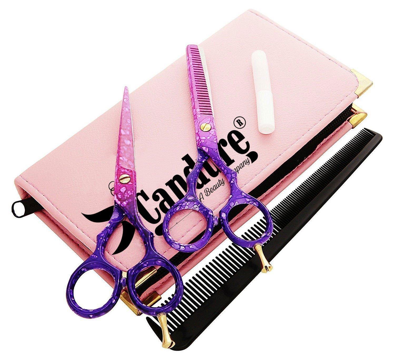 Forbici barbiere forbici parrucchiere sottili set forbici di taglio dei capelli Candure