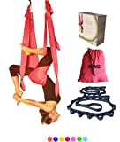 SALE TODAY!! Yoga Swing Aerial Inversion Sling Trapeze Hammock For Excercises. Includes 2 Daisy Chain Adjustable Straps. Best Quality Fabric, Comfortable and Ultra Strong For Outdoor Or Indoor by Wing