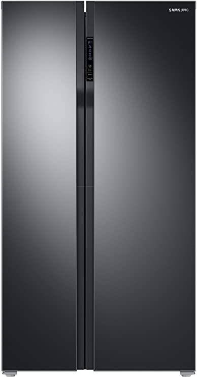 Samsung 604 L Frost Free Side by Side Refrigerator RS55K50A02C/TL, Black, Inverter Compressor  Refrigerators