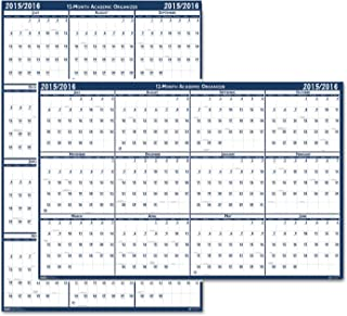 product image for HOD395 - Poster Style Reversible/Erasable Academic Yearly Calendar
