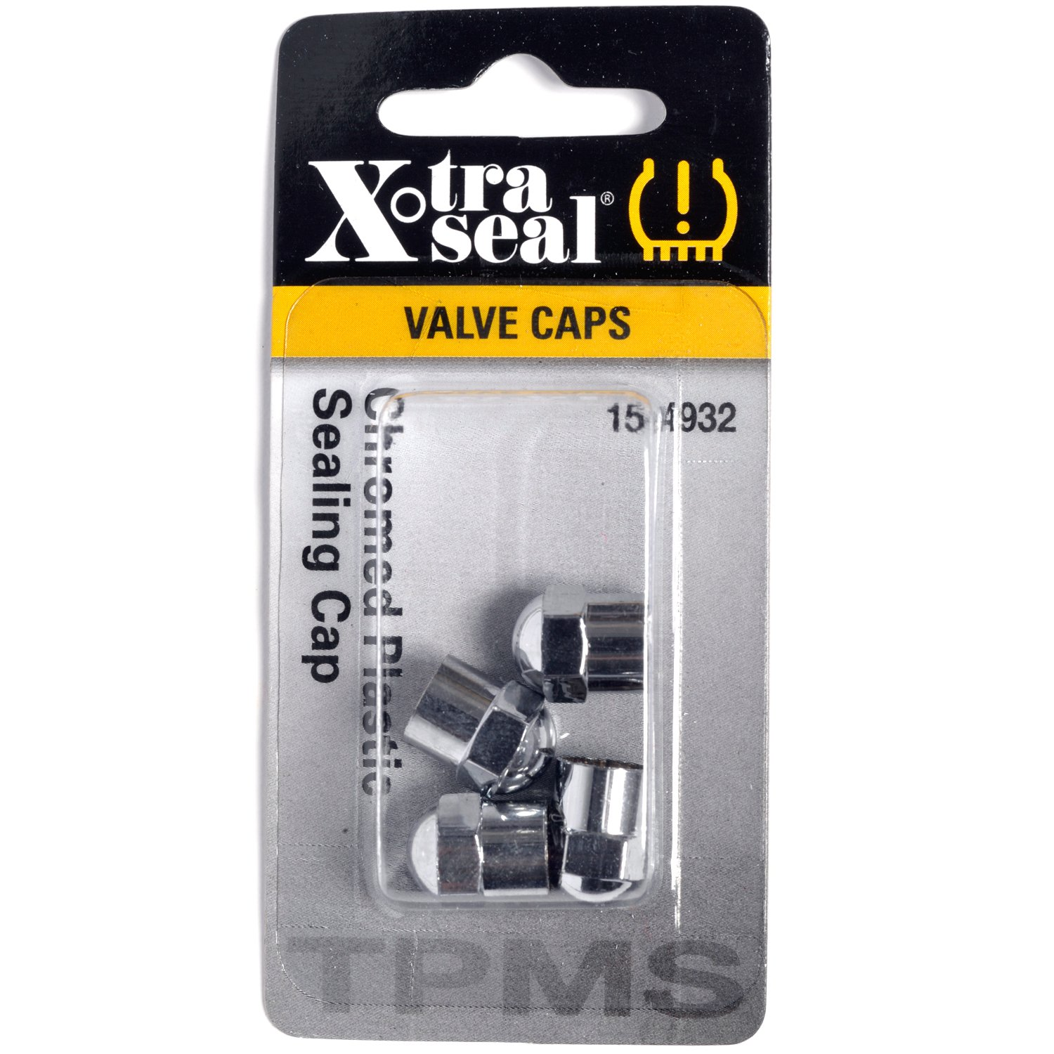 X-Tra Seal 15-4932 Chrome TPMS Plastic Valve Cap by Xtra-Seal (Image #1)