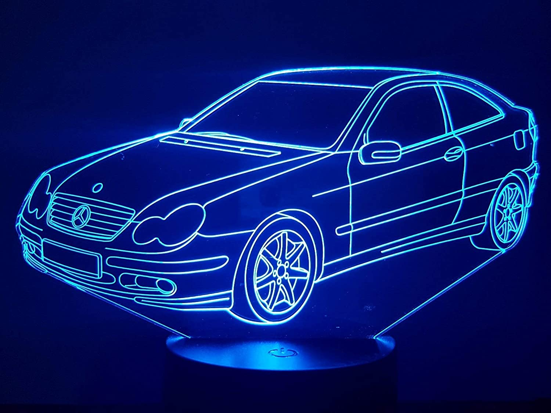 MERCEDES CL 203, 3D-Lampe LED