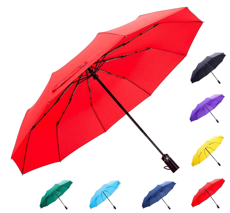 Fidus Inverted Reverse Sun&Rain Car Umbrella Large Windproof Travel UV Umbrella Women Men - Auto Open Close F011-Starry Sky