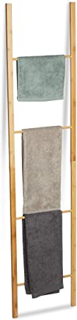 Relaxdays Toallero Escalera Plegable con 4 Barras, Bambú, Marrón Natural, 180 x 42 x 2 cm: Amazon.es: Hogar