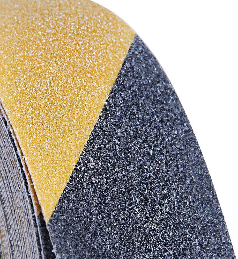 5cm x 5m Cinta de Agarre de Seguridad Antideslizante para Escaleras Banda de Alta Tracci/ón Abrasivo Cinta de Precauci/ón de Peligro Negro//Amarillo