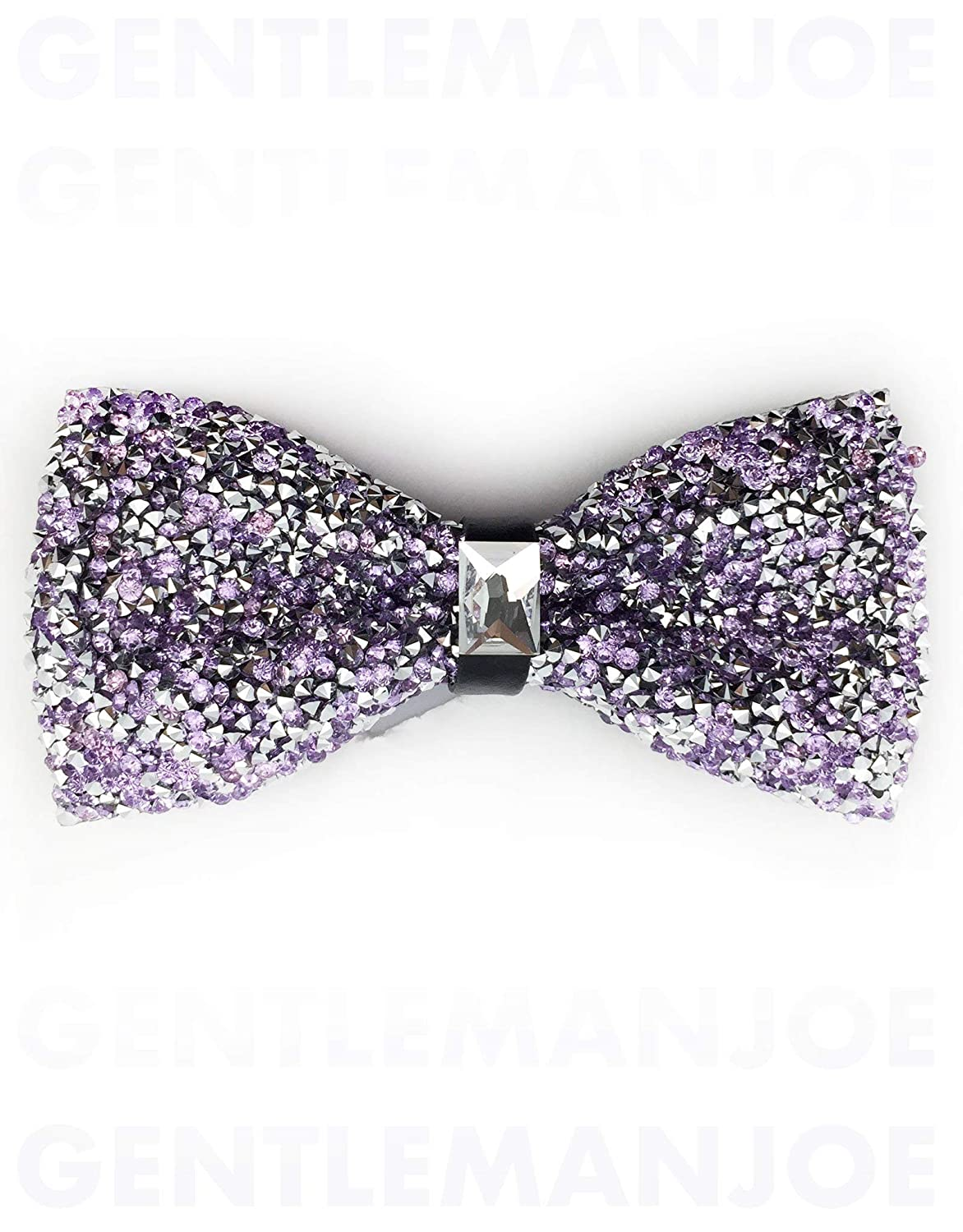 Gentleman Joe Crystal Lilac Purple Bowtie Multicolored