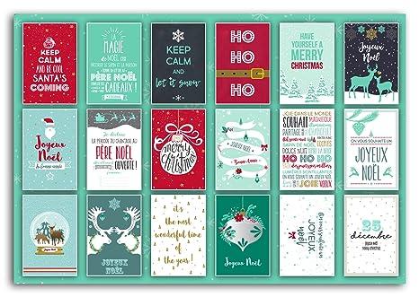 Toga pwp16 Navidad Bloque de 18 Tarjetas Postales Papel Rojo ...