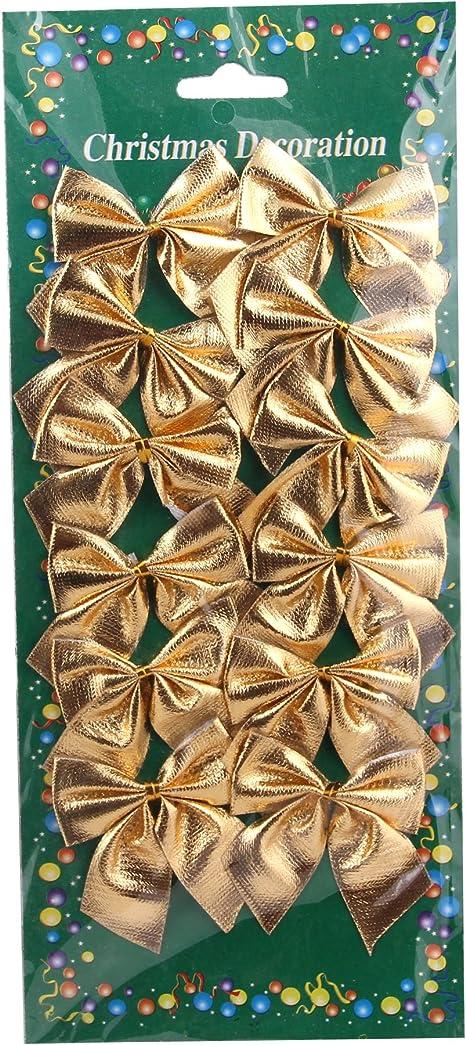 12 Mini Brown Bows