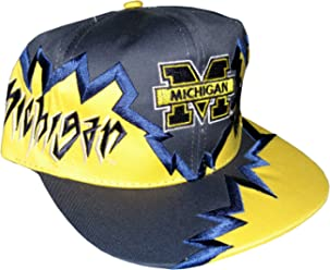 e872b4cd9c3 Drew Pearson Men s Vintage Snapback Cap Nos Michigan Wolverines