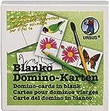 Ursus 8280000 - Blanko - Domino - 60 Karten, unbedruckt, weiß