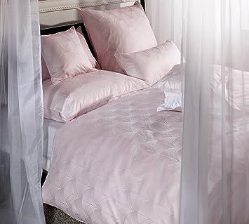 Curt Bauer Bettwäsche Toulouse Damast Rosa Größe 135x200 Cm 80x80