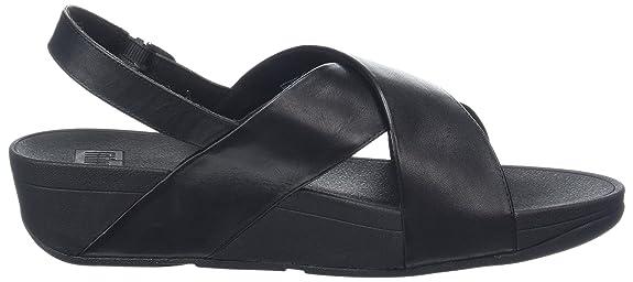 53f216d50 fitflop Women s Lulu Cross Back-Strap Shimmer-Print Sandal