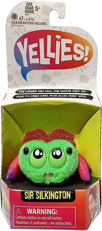 Yellies Sir Silkington Voice Activated Spider Pet Toy for Kids