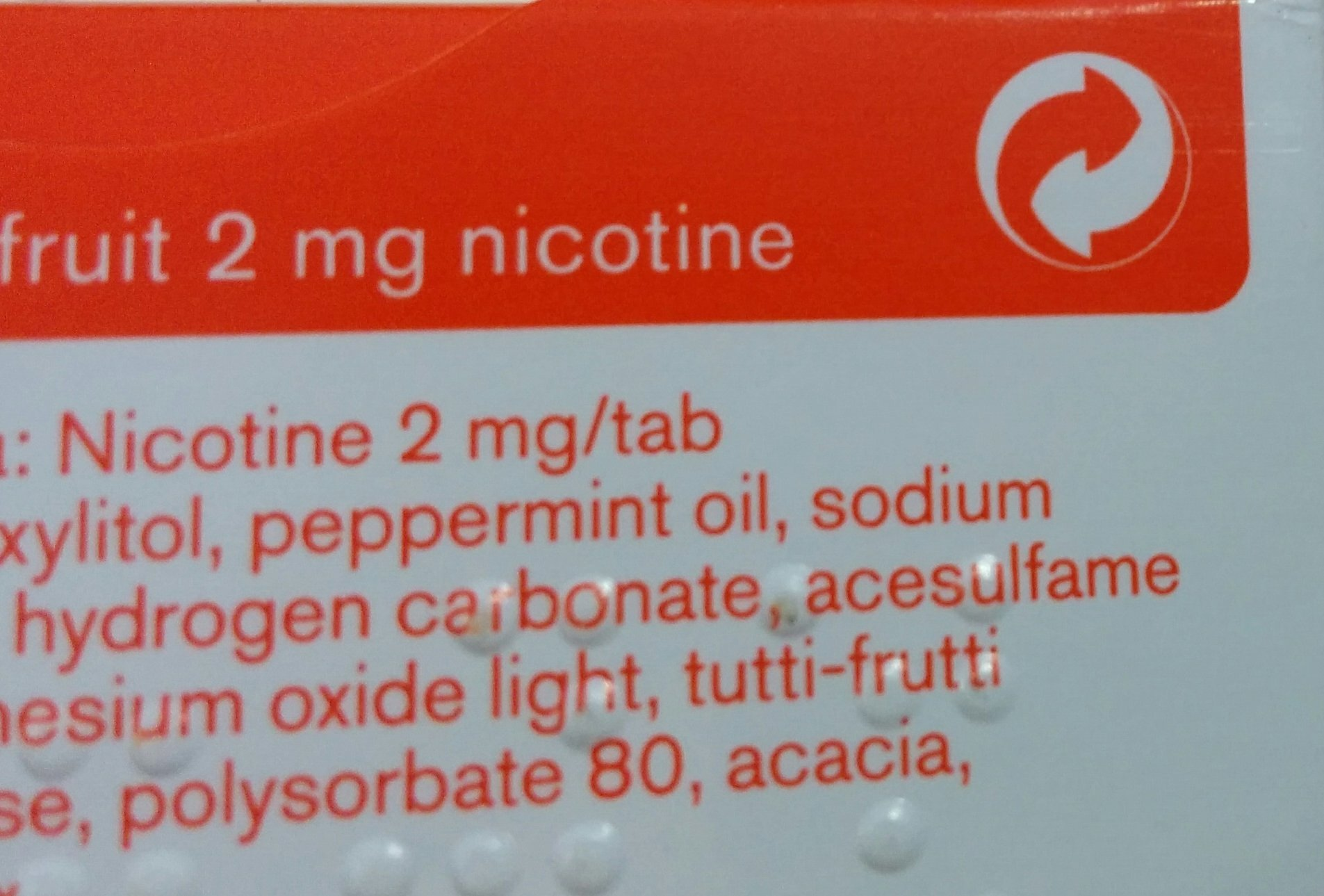 Nicorette fruit 2mg 4x105 ct-3 DAYS DELIVERY