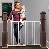 Regalo Extra Wide 2-in-1 Stairway and Hallway Safety Gate with Mounting Kit (1250 DS), White