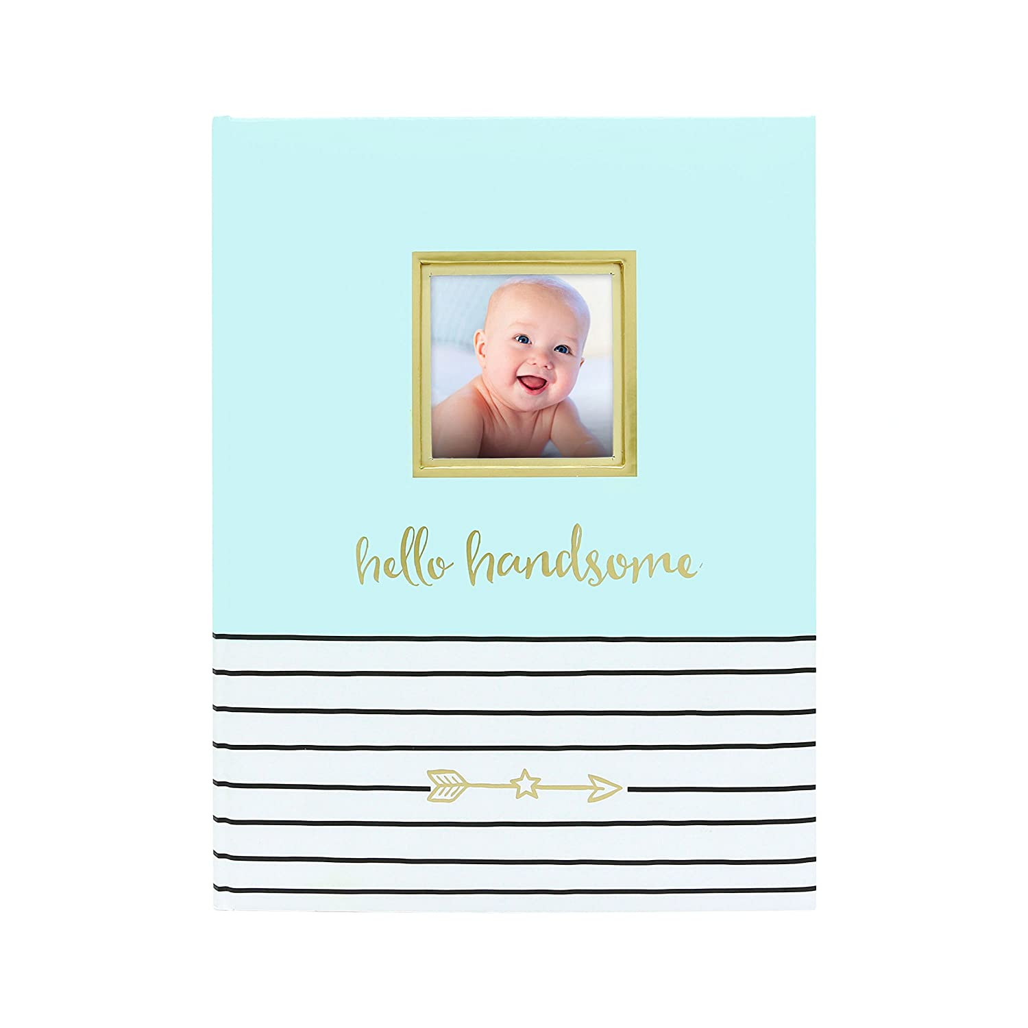 Pearhead Hello Handsome Baby Book, Blue 73008