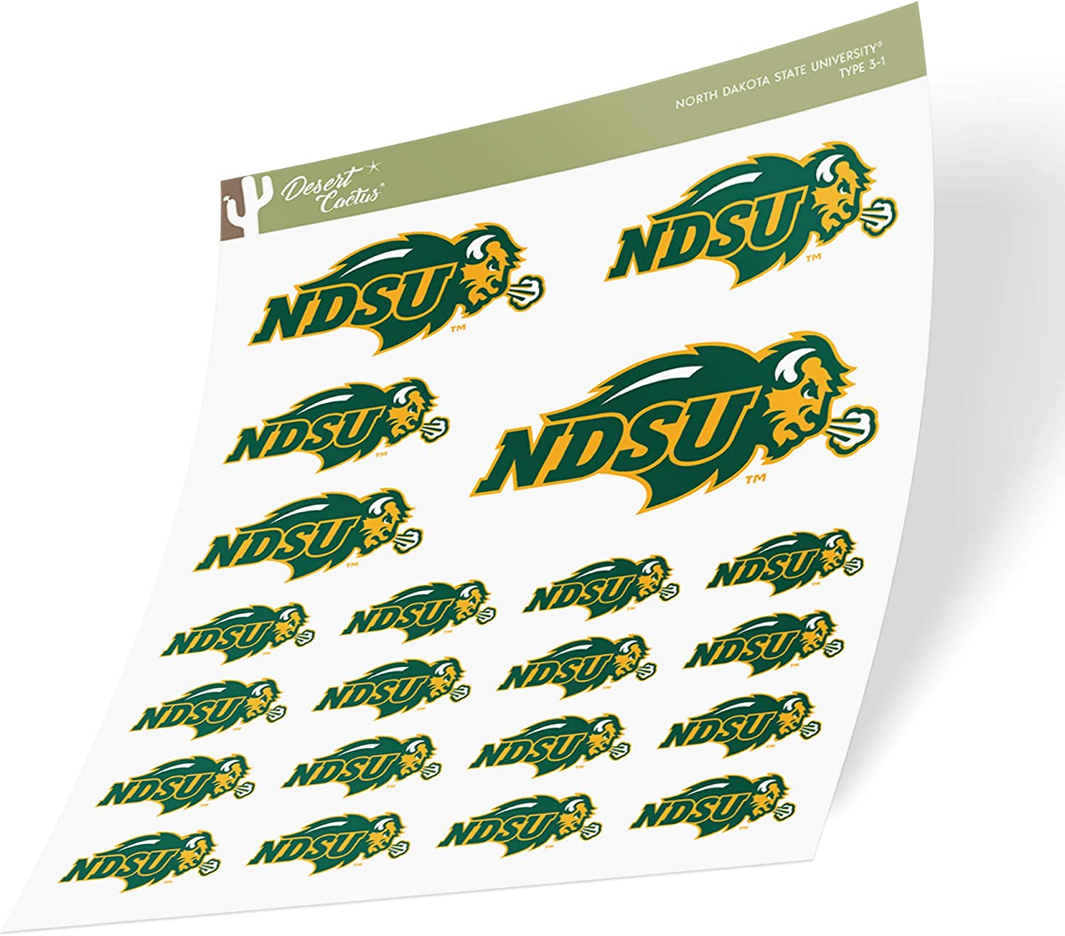 15 Inch Sticker North Dakota State University NDSU Bison Thundering Herd NCAA Name Logo Vinyl Decal Laptop Water Bottle Car Scrapbook