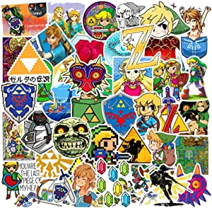 Zelda Stickers for Water Bottles Big 47 Pack Cute Funny Stickers for Teens,Girls,Adults | Perfect for Waterbottle,Laptop,Phone,Hydro Flask Travel Vinyl Stickers Waterproof (Zelda Series)