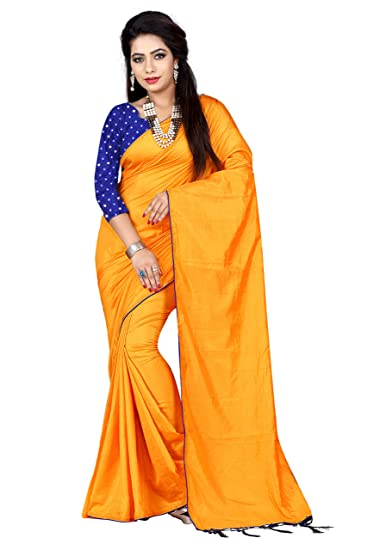 Buy Rajasthani Bandej Women S Sana Silk Saree With Mirror Work Blouse Piece J 100 Gold Blue At Amazon In,Attractive Simple Butterfly Corner Border Designs For Projects