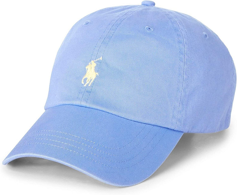 Ralph Lauren – Gorra de béisbol de algodón chino – Azul Cabana ...