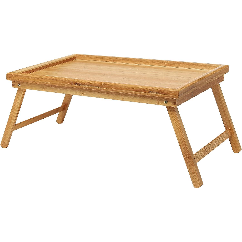 Luxurious Breakfast In Bed Bamboo Lap Tray / Laptop Desk / Kids Floor Table  W/ Folding Legs   MyGift: Amazon.in: Home U0026 Kitchen