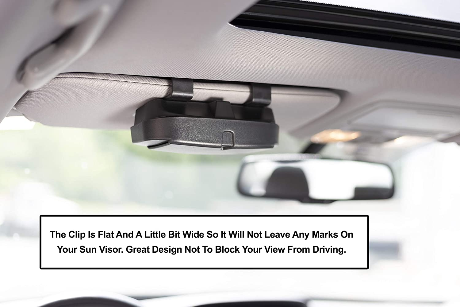 Includes 2 Gas or Credit Card Slots On The Outside lebogner Car Sun Visor Sunglasses Case Holder Fits All Vehicle Models Easy Installation Eye Glasses Organizer Box with A Double Snap Clip Design
