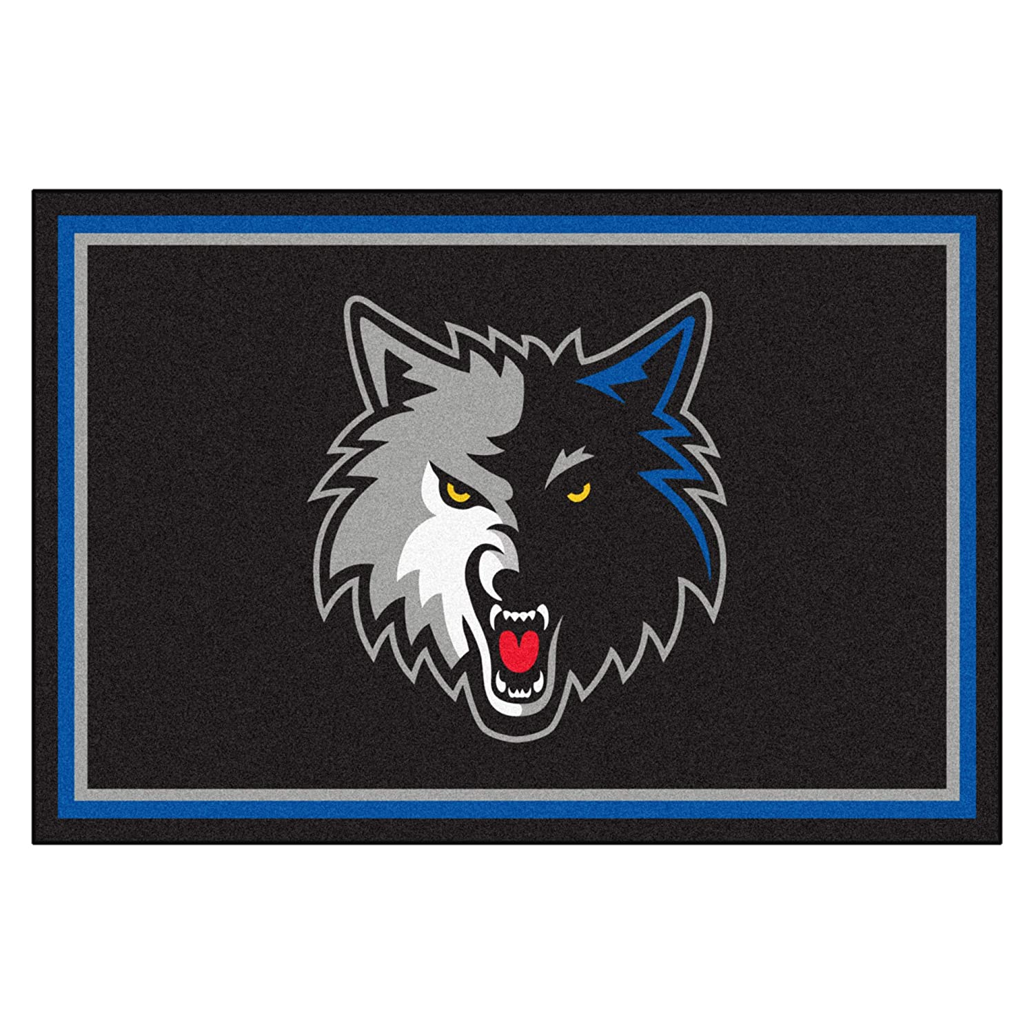 FANMATS NBA Minnesota Timberwolves Nylon Face 5X8 Plush Rug