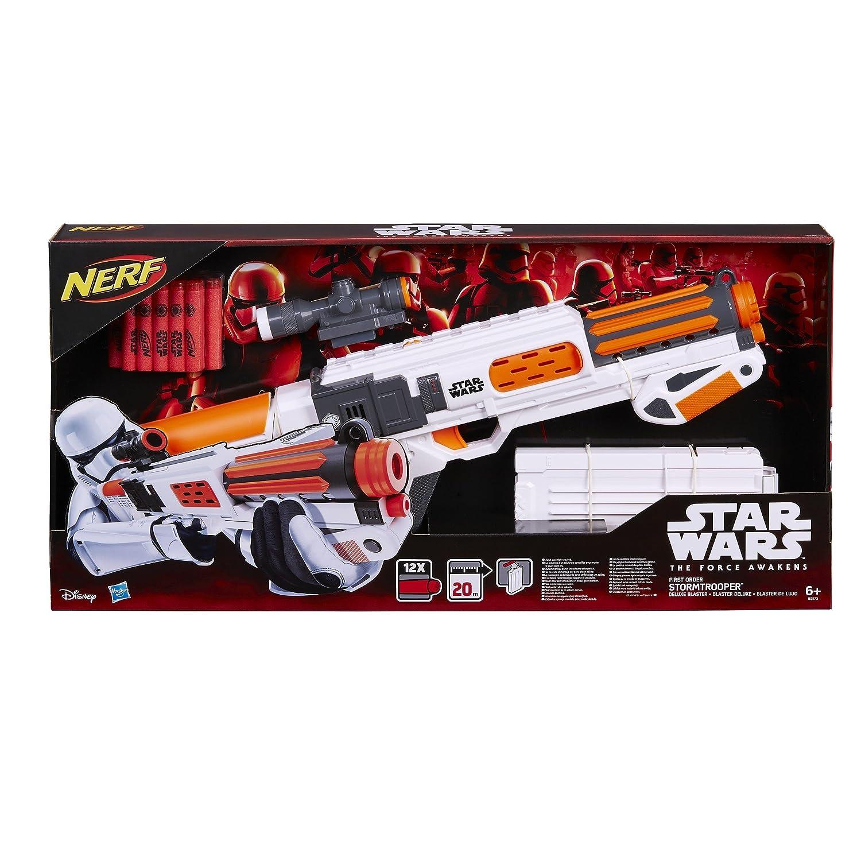 Nerf Star Wars Episode VII First Order Stormtrooper Deluxe Blaster Dart Gun