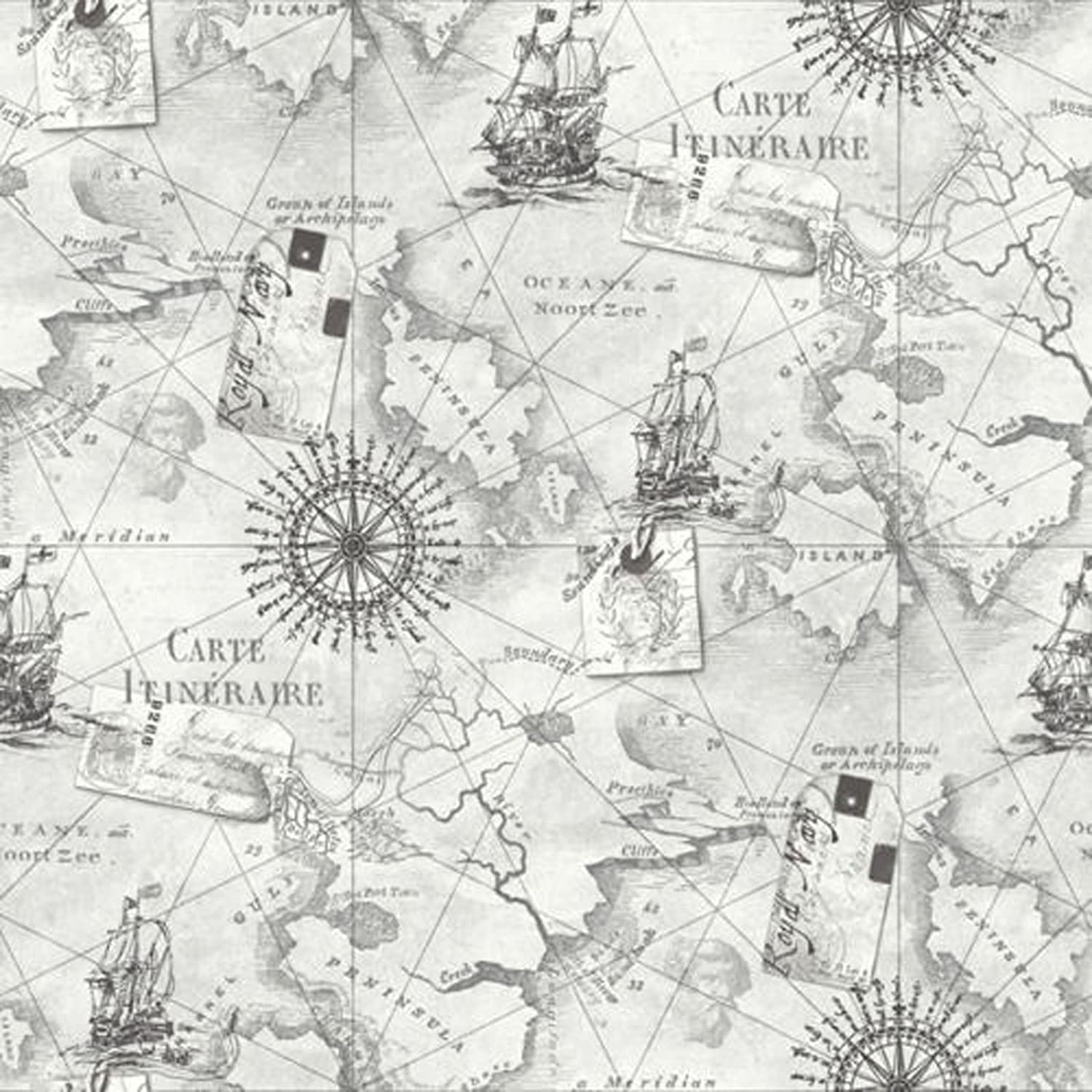 Nautical Map Wallpaper NEW ARTHOUSE NAVIGATOR VIP CARTOGRAPHY LUXURY VINTAGE NAUTICAL MAP