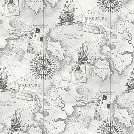 Vintage Navigator-Tarjeta de grises art-Papel pintado y ...