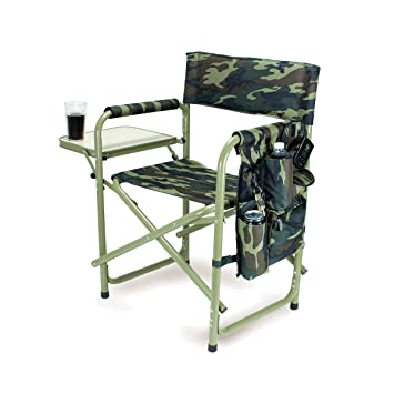 Picnic Time Portable Folding Sports Chair, Camouflage
