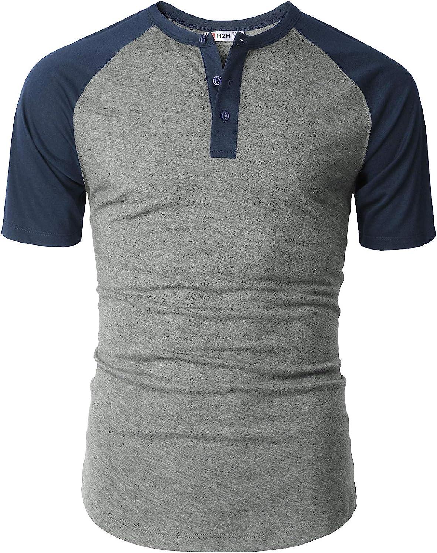 H2H Men Casual Slim Fit T-Shirt Short Sleeve Lightweight Shirt