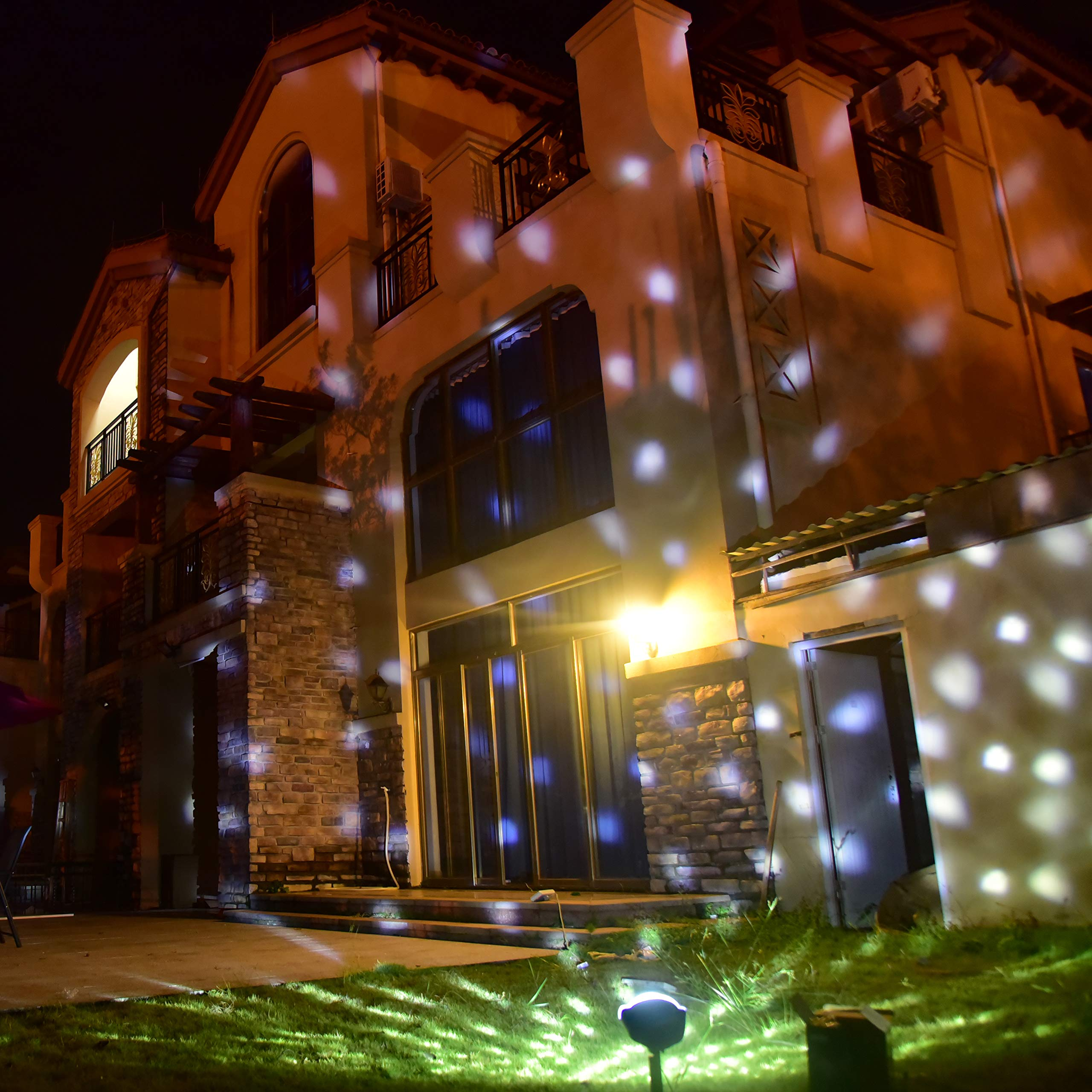 YoyoKit Snowfall Christmas Light Projector, Outdoor IP65 Waterproof Snowflake Motion Show Lights with RF Wireless Remote for Xmas, Landscape, Patio, Garden, Decoration by YoyoKit (Image #2)