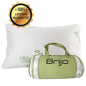 best bamboo pillow for neck pain side back or stomach sleepers shredded memory
