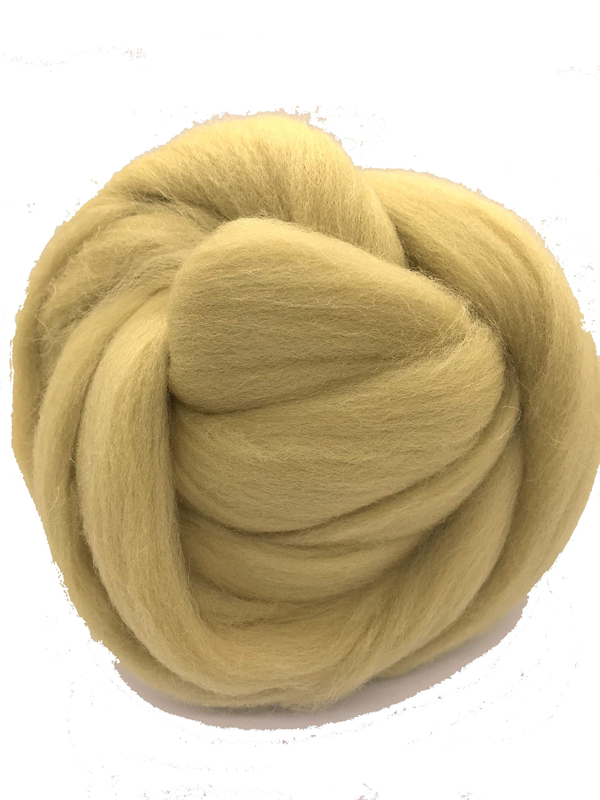 Tan Wool Roving Fiber Spinning, Felting Crafts USA (2lb) Felting wool, spinning wool, flesh tone wool, wool fiber, giant yarn, big yarn, jumbo yarn, chunky yarn, weaving wool, dread wool, Shep's Wool
