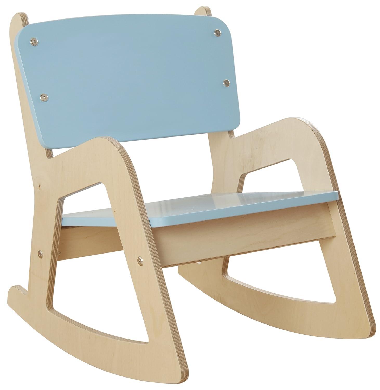 Millhouse de fauteuil à bascule en bois enfants (Bleu)