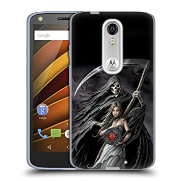 Official Anne Stokes Summon The Reaper Gothic Soft Gel Case for Droid Turbo 2 / X
