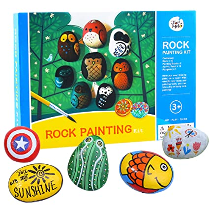 Amazon Com Jar Melo Rock Painting Kit Non Toxic Rock Art