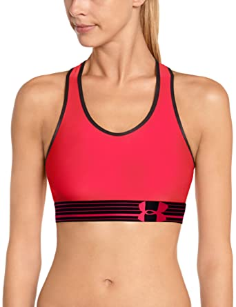 e0022056638ee Under Armour Women s UA HeatGear Alpha Bra Pink Shock Black Pink Shock  Sports Bra