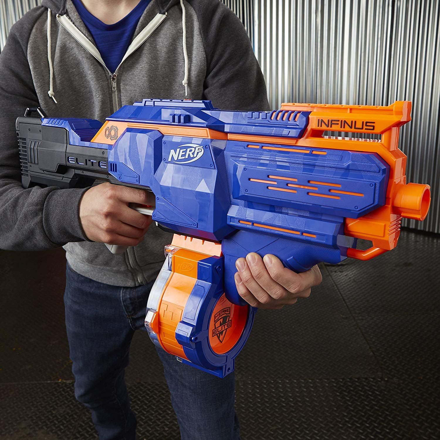 NERF Infinus N-Strike Elite Toy Motorized Blaster with Speed-Load Technology (FFP) by NERF (Image #6)