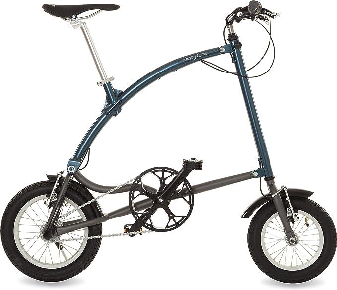 Ossby Curve Bicicleta Plegable, Unisex Adulto, Azul metálico ...