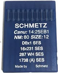Schmetz Agujas de punto de bola de máquina de coser Industrial ...