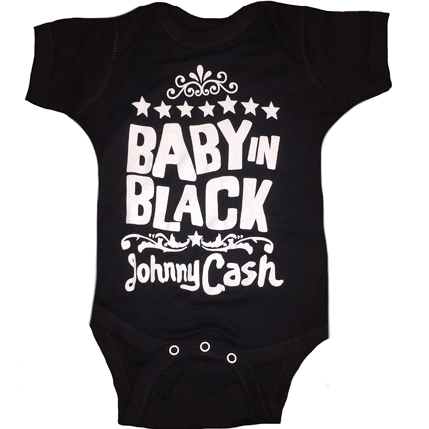 Amazon.com  Johnny Cash Baby In Black Unisex Baby Infant Romper  Clothing 0a2919fc9706