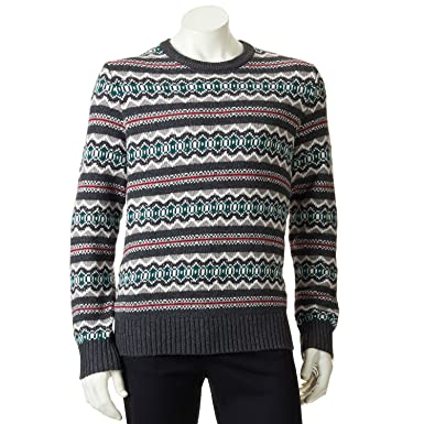 Sonoma Life + Style Classic-Fit Fairisle Wool-Blend Sweater - Men ...