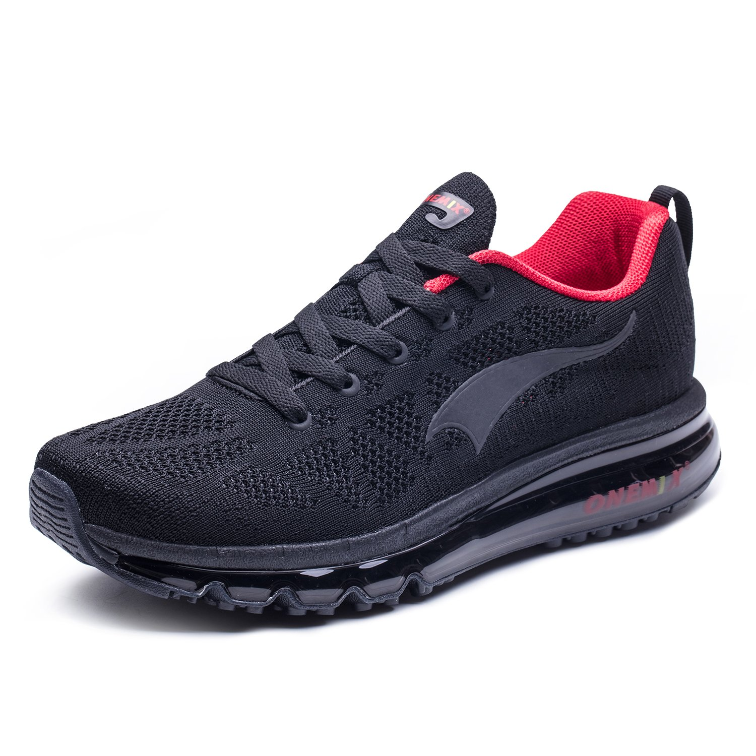 ONEMIX Men's Air Cushion Outdoor Sport Running Shoes Casual Sneakers B07CVJBXG8 8.5 D(M)US 10.43inch|Black / Red