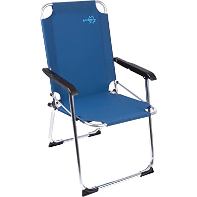 Bo-Camp - Silla Plegable (Nylon y Aluminio), Color Azul