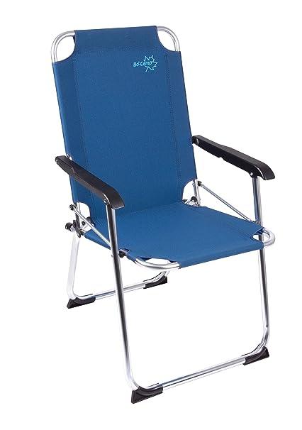 Bo-Camp - Silla Plegable (Nylon y Aluminio), Color Azul ...