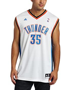 Kevin Durant Oklahoma City Thunder Adidas NBA White Réplica Jersey Camiseta, XL: Amazon.es: Deportes y aire libre